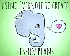 lesson plans with evernote #specialneeds #autism #homeschool