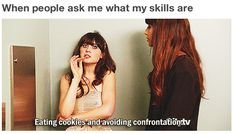Definition of Cyndi haha Eating cookies and avoiding confrontation :D I Love To Laugh, Make Me Smile, Haha, Dump A Day, Humor Grafico, Reality Check, The Villain, Just For Laughs, New Girl
