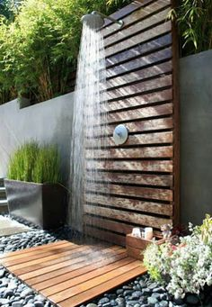 Fabulous outdoor shower!