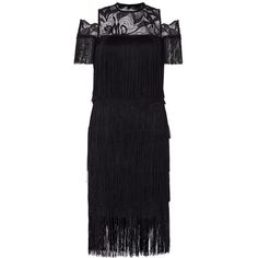 pirouette fringed dress ($165) ❤ liked on Polyvore featuring dresses, ballerina dress, fringe dress and ballet dress