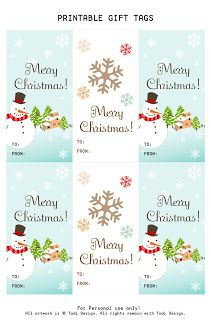 these cute gift tags can easily be cut out as simple rectangles but