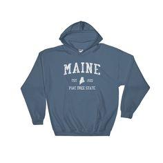 Vintage Maine ME Adult Hoodie (Unisex)