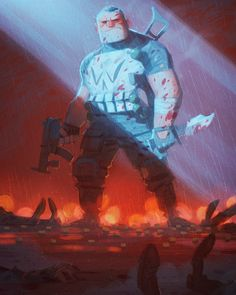 """1,606 curtidas, 28 comentários - Max Ulichney (@maxulichney) no Instagram: """"Punisher. Finally painted this two year old sketch. #painting #illustration #visdev…"""""""