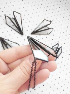 Paper plane glass necklace https://www.etsy.com/listing/186227995/stained-glass-jewelry-pendant-paper