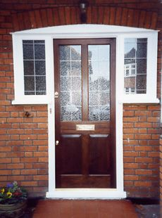 Enjoy enhanced security: Our solidly constructed 57mm thick mortice and tenon doors are fitted with five-lever BS3621 insurance approved mortice deadlocks along with an extra Yale rim lock to keep your home safe. http://www.ifosterwindows.co.uk/entrance-doors/info_19.html