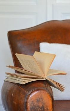A comfy armchair and a good read. Nothing like the first First time reading one ;)