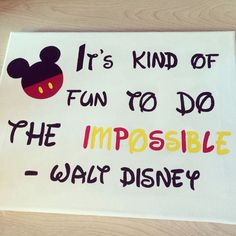 Walt Disney Canvas Painting DIY - for her room Diy Canvas Art, Cute Canvas, Canvas Crafts, Canvas Ideas, Disney Diy, Disney Crafts, Walt Disney, Painting Quotes, Diy Painting