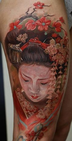 Geisha Tattoo Design Idea