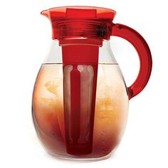 Epoca Primula The Big 1 Gal. Iced Tea Brewer with Stainless Steel Brew Core - Red. Primula The Big Iced Tea & Cold Coffee Brewer makes hot and . Cold Coffee Brewer, Iced Tea Brewer, Iced Tea Maker, Coffee Drinks, Infusion Pitcher, Iced Tea Pitcher, Big Pitcher, Best Coffee Maker, Coffee Love