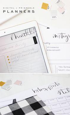 Brush Script Digital and Printable Planners are here! - Saffron Avenue : Saffron Avenue