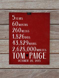 custom anniversary gifts 5 year 10 year 15 year 20 year anniversary