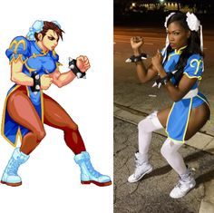 "superheroesincolor: "" Amber Cardi as Chun Li for #Halloween Get the ""Street Fighter"" comics here [ Follow SuperheroesInColor on facebook / instagram / twitter / tumblr ] """