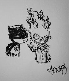 Baby Batman  Joker by Skottie Young