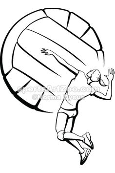Sports Art Zoo Volleyball-Girl-Spiking #volleyball #sportsartzoo
