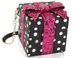 Betsey Johnson Kitch Gift Box Crossbody Bag - Polka dot