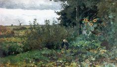 Willem Bastiaan Tholen (Amsterdam 1860-1931 Den Haag) Sprokkelaar in de moestuin…