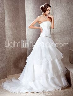 $299.99 Wedding Gowns, Wedding Day, Cap Sleeve Gown, Cheap Wedding Dresses Online, Chapel Train, Ruffles, One Shoulder Wedding Dress, Tulle, Chiffon