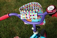 Noodlehead: bicycle bucket tutorial. Just what Veronica needs!