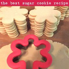 We have found the Best Sugar Cookie Recipe ever and we share it here in our Crafting Blog so that everyone can have super yummy homemade sugar cookies.