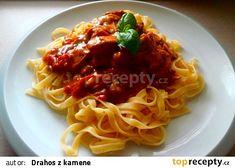 Tagliatelle a kuřecí nudličky recept - TopRecepty.cz Spaghetti, Ethnic Recipes, Food, Red Peppers, Essen, Meals, Yemek, Noodle, Eten