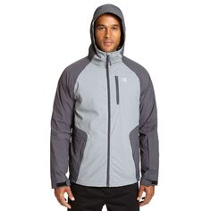Big & Tall Champion Colorblock 3-in-1 Systems Hooded Jacket, Men's, Size: Xl Tall, Grey