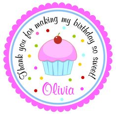 Cupcake Stickers Custom Personalized Labels by thepaperkingdom, $5.90