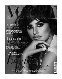 Penelope Cruz cover the December edition of Vogue Spain photographed by Peter Lindbergh. Inside the mag, Lindbergh shoots a series of portraits featuring over forty portaits including Spain's bigges stars such as Paz Vega, Bimba Bose and more.