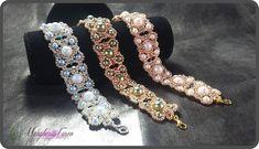 Pdf pattern, how to make a bracelet using pearls and seed beads. Beaded Bracelets Tutorial, Beaded Bracelet Patterns, Seed Bead Bracelets, Seed Beads, Pandora Bracelets, Diy Jewelry, Jewelry Making, Jewellery, Beading Tutorials