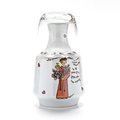 Moringa com tema Santo Antônio!  #handmade #porcelana #porcelanadecorada #porcelanapersonalizada #decoração #decor #pintadoamão #feitoamão #brasil #brazil  #lembrançadoBrasil #homedecor #porcelain #santoantônio #casamenteiro