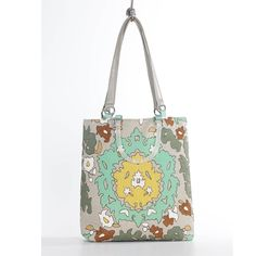 Bohemian Green Large Tote
