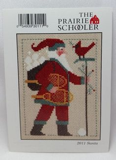 2011 Santa The Prairie Schooler Christmas Cross Stitch Pattern Chart # PC11 OOP #ThePrairieSchooler #Sampler