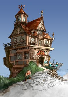 GGSCHOOL, Artist 정홍석, Student Portfolio for game, 2D Scene Concept Art, www.ggschool.co.kr