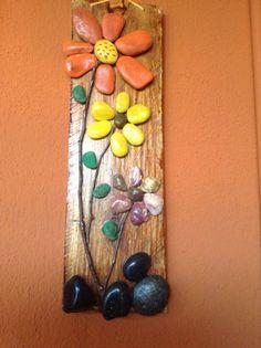 pebble art flowers