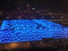 water cube, or national aquatic center, china