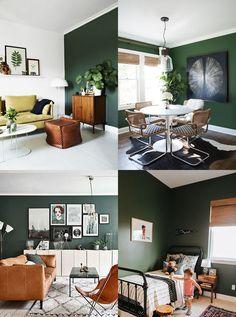 pan de mur vert foncé