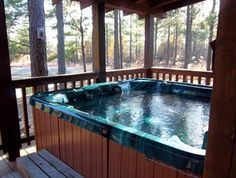 What a relaxing cabin getaway!  Heartpine Hollow Cabins offers ten luxury cabins in southeast Oklahoma.