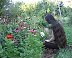 I look forlorn, hehe. my mother-in-law took some pictures of me in her garden, which show my long hair rather nicely Me in the Garden Medium Long Hair, Super Long Hair, Hair Inspo, Hair Inspiration, Love Heart Gif, Indiana Girl, Paradise Garden, Mane Event, Photography Words