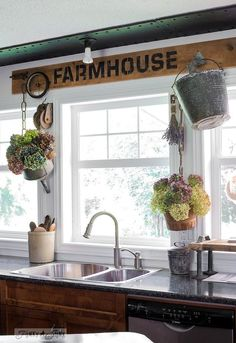 going farmhouse with a funky patio table and kitchen window valance, crafts, kitchen design, painted furniture, repurposing upcycling, rustic furniture, woodworking projects