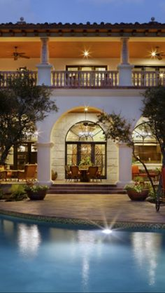 Double porches and a pool! ▇  #Home #Design http://www.IrvineHomeBlog.com/HomeDecor/  ༺༺  ℭƘ ༻༻