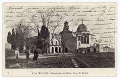 Ermitorio Ntra. Sra. de Lidón : Castellón (1905 a. de) - Santamaría [Castelló de la Plana (Castelló)] Animal Crossing, Valencia, Taj Mahal, Building, Painting, Travel, Animals, Antique Photos, Viajes