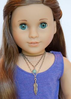 American Girl doll double necklace on Etsy, $4.50
