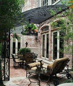 Oh, my…… Going to do this for my next client. Wrought Iron Gazebo over Bac… Oh, my…… Going to do this for my next client. Wrought Iron Gazebo over Back Porch by Potter Art Metal Studios Diy Pergola, Metal Pergola, Pergola With Roof, Pergola Ideas, Patio Ideas, Outdoor Rooms, Outdoor Living, Outdoor Decor, Eisen Pergola
