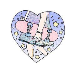 Картинка с тегом «overlay, heart, and skateboard»