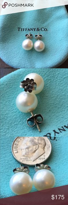 Tiffany pearl earrings Beautiful pearl and silver earrings, I have the pouch as well. I'm wearing them on profile pic too Tiffany & Co. Jewelry Earrings