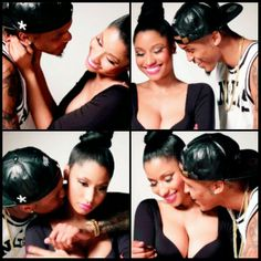 August alsina & nicki minaj they are so cute together only if this was real and not a video.