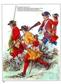 British Army Virginia 1677