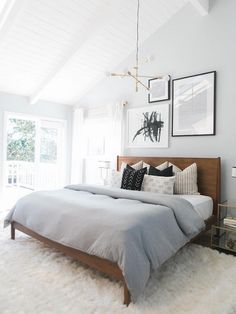 Clean and warm space. Bedroom inspiration. pinterest || sarahesilvester