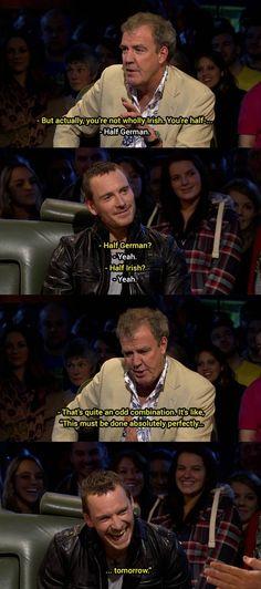 Top Gear - Jeremy Clarkson & Michael Fastbender