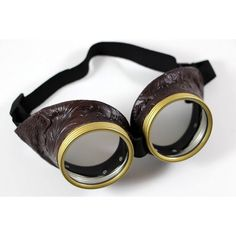 Steampunk Goggles, Bioshock Glasses, Burning Man, Halloween steampunk... ($36) ❤ liked on Polyvore featuring costumes, steam punk costume, steampunk halloween costume, sci fi costumes, brown costume and steampunk pirate costume