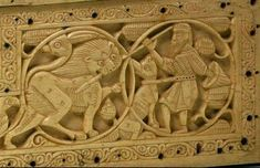 Detail - Ivory casket, Fatimid Sicily or Southern Italy, 11th-12th Centuries